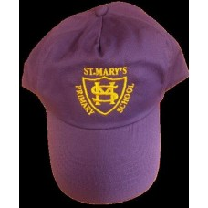 St Mary's Purple Summer Caps With Logo