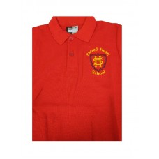 Red Logo Polo T Shirts