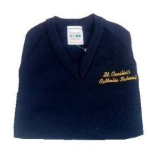 St Cecilia's Navy V neck Jumper