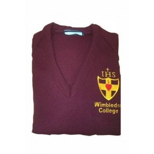 1fcb6ffa7b4 Wimbledon College Maroon College Jumpers with College Badge