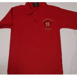 Sacred Heart Red Top with Logo -  Summer