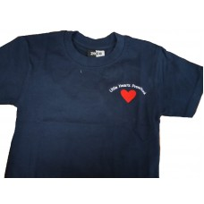 Little Hearts Navy T Shirt