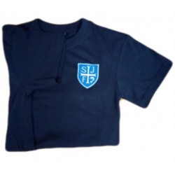 SJF Navy PE Top With Logo