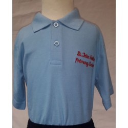 St John Fisher Blue Polo with Logo