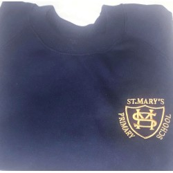 St Mary's Navy PE Jumper with School Logo