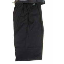 Grey One Pleat Trousers