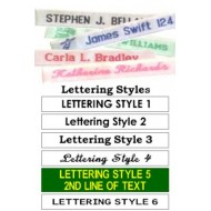 Printed Iron On Name Labels
