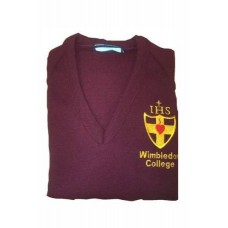 Wimbledon College Maroon College Jumpers with College Badge